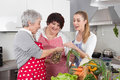 Diet course: fat woman will loosing weight with a dietitians. Royalty Free Stock Photo