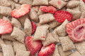 Diet crunchy with strawberry Stock Image