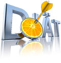 Diet d illustration of a icon german language Royalty Free Stock Photo