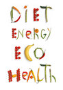 Diet, energy, eco, health Royalty Free Stock Photo