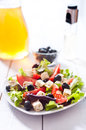 Diet and healthy mediterranean salad photo of Stock Photography