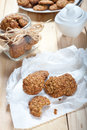 Diet and healthy muesli cookies photo of Royalty Free Stock Images
