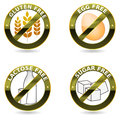 Diet icon collection Royalty Free Stock Photography
