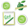 Diet icons colorful illustration with for your design Stock Photography