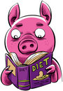 Diet Pig Royalty Free Stock Photos