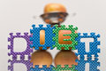Diet Spelled Out with Foam Blocks Stock Photo