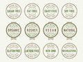 Diet stamps and seals Royalty Free Stock Photo