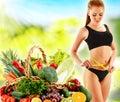 Dieta dieta equilibrada basada en verduras orgánicas crudas Fotos de archivo libres de regalías