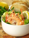 Dietary dish with prawns Stock Photo