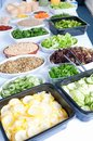 Dietary food white table with large selection of Royalty Free Stock Image