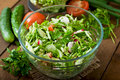 Dietary healthy salad of fresh vegetables Royalty Free Stock Photo
