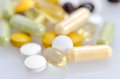 Dietary supplements close up of a supplement Royalty Free Stock Images