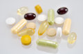 Dietary supplements close up of a supplement Royalty Free Stock Photos