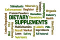 Dietary supplements word cloud on white background Royalty Free Stock Image