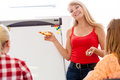 Dietician giving healthy nutrition lesson Royalty Free Stock Photo