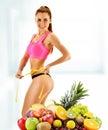 Dieting balanced diet based on raw organic food Stock Image