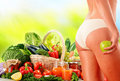 Dieting balanced diet based on raw organic vegetables Stock Photography