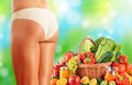 Dieting balanced diet based on raw organic vegetables Stock Photo