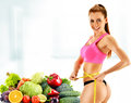 Dieting balanced diet based on raw organic vegetables Royalty Free Stock Photos