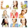 Dieting collage Stock Images