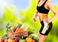 Dieting dieta equilibrada basada en verduras orgánicas crudas Fotos de archivo libres de regalías