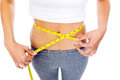 Dieting woman waist Stock Images