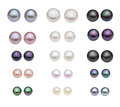 Diferent pearl type catalog of Stock Images