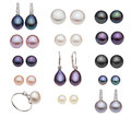 Diferent pearl type catalog of Stock Image