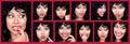 Différentes expressions du visage de femme. Photographie stock
