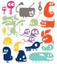 Different abstract creatures Royalty Free Stock Photo