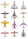 Different airplanes Stock Photography