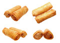 Different angle of views with egg rolls Stock Image