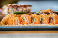 Different array of fresh sushi