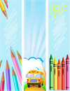 Different Back to school banners Stock Image