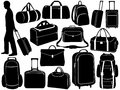 Different Bags Set Royalty Free Stock Images