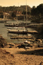 Different Boats, Same Nile (Sepia Version) Stock Image