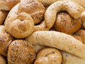 Different breads and rolls from bakery assortment of Royalty Free Stock Photos