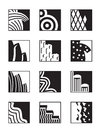 Different building surfaces vector illustration Royalty Free Stock Images