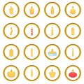 Different candle icons circle