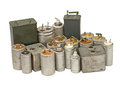 Different capacitors.Isolated. Stock Image
