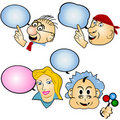 Different cartoon faces Stock Image