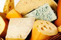 Different cheeses varieties food background Royalty Free Stock Photography