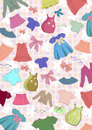 Different child`s clothes background Royalty Free Stock Photos