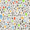 Different color arrows pattern seamless background of Royalty Free Stock Photo