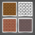 Different color brick textures collection Royalty Free Stock Photo