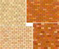 Different color brick textures collection. Royalty Free Stock Photo