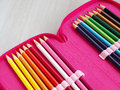 Different color pencils Royalty Free Stock Photo
