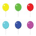 Different colored balloons on the white background Stock Image