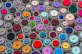Colorful buttons on a market Royalty Free Stock Photo
