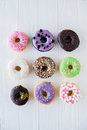 Different colorful sweet donuts Royalty Free Stock Photo